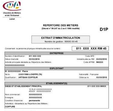 Obtenir un Extrait D10 en ligne - Formulaire de commande